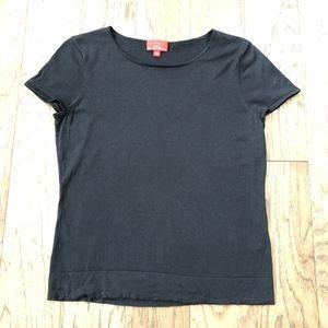 Oscar De La Renta Black Silk Blend Shirt Size L